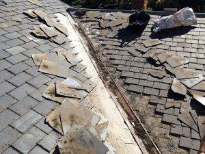 reparación de lima en tejado de pizarra madrid