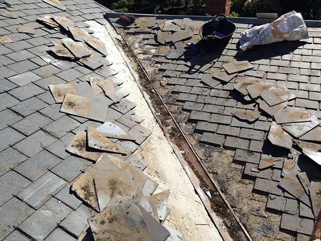 Tejados de pizarra reparaci n de goteras madrid - Materiales para tejados ...