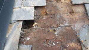 reparación de tejado de pizarra Base hundida