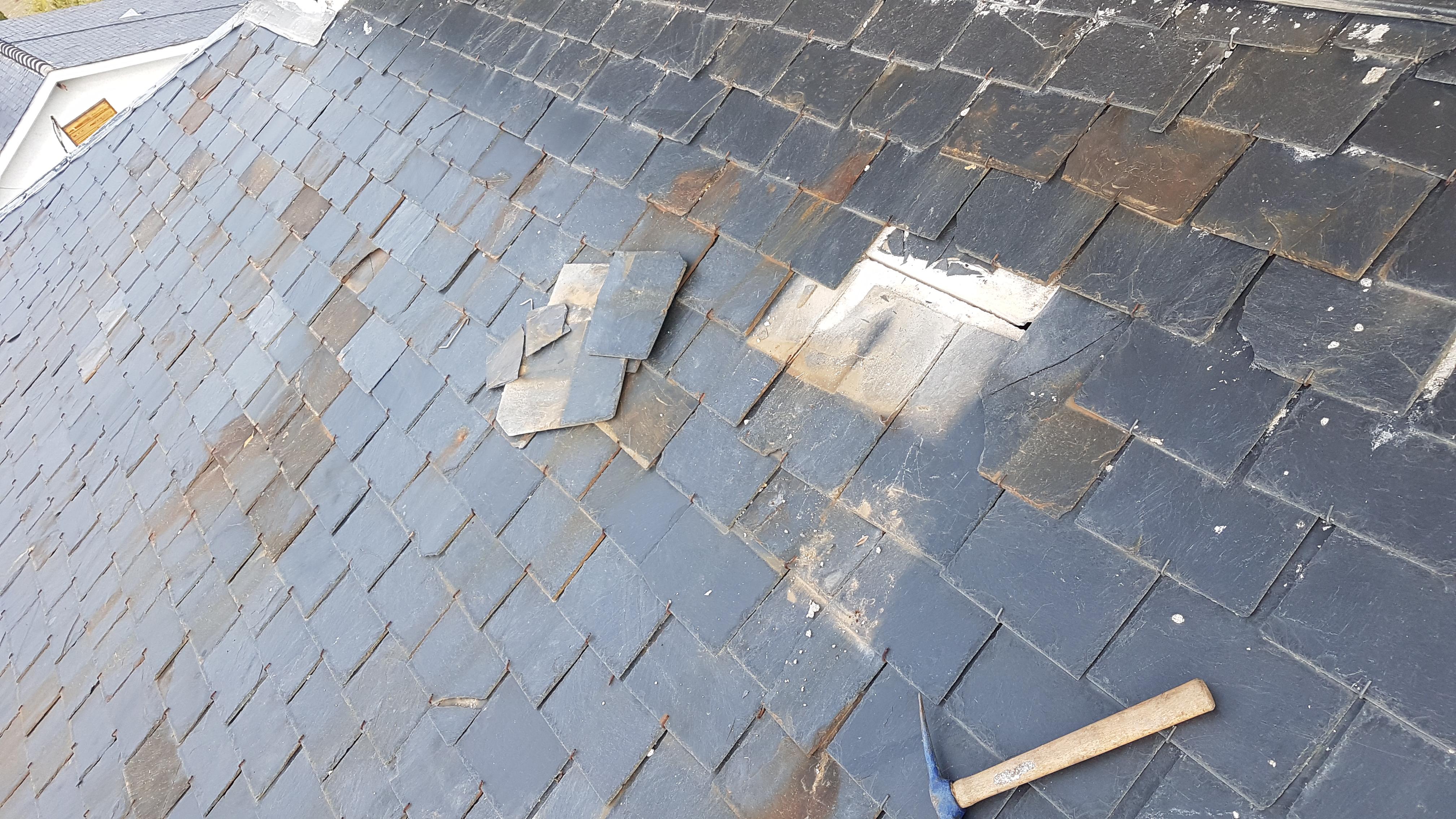 reparación de tejado de pizarra goteras madrid