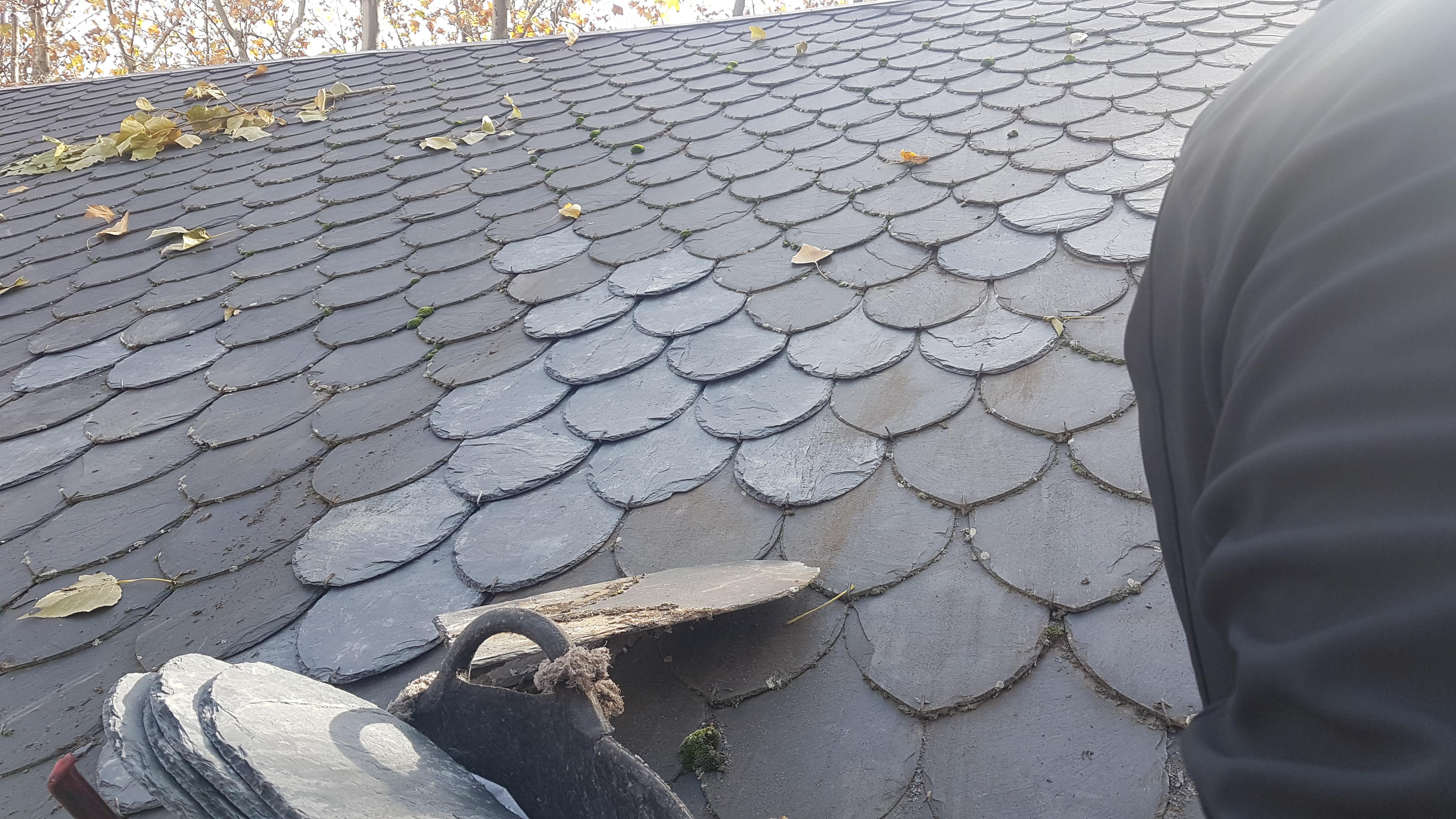 reparación de tejados de pizarra terminada