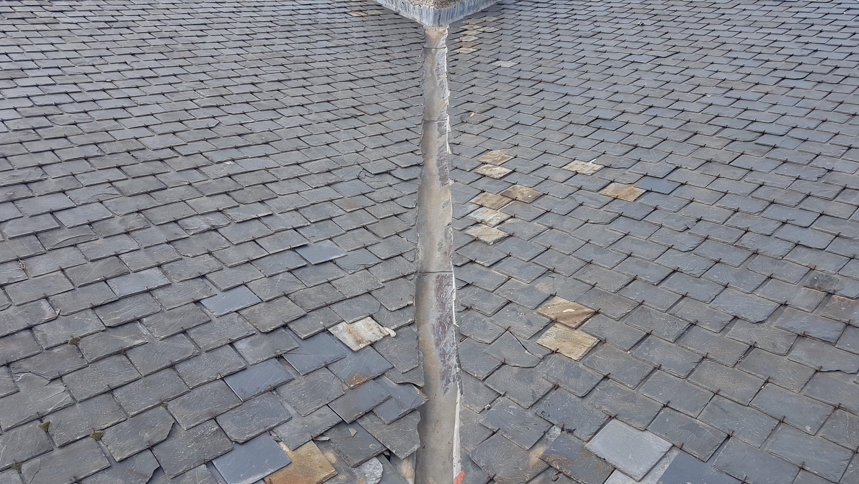 Goteras en tejados de pizarra