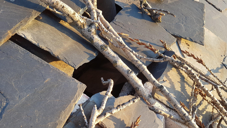 Tejado de pizarra hundido planchas de Ytong