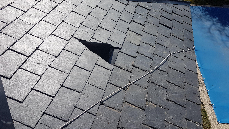 Cambiar pizarras rotas el tejado de pizarra Madrid