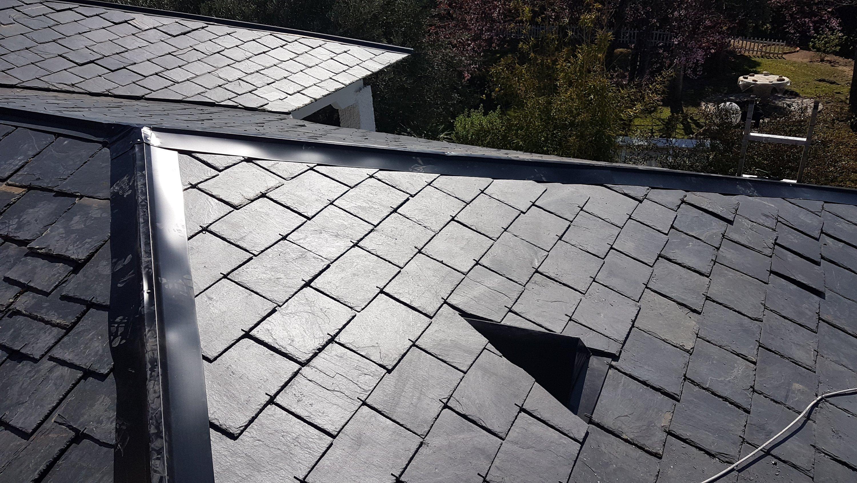 Cambio de tejado de pizarra reparado en Madrid