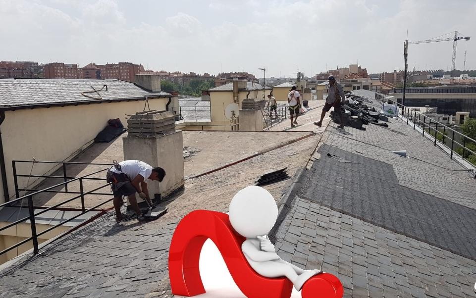 Como rehabilitar tejado pizarra madrid